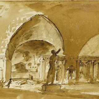 앨범 : 고대 기념물의 내부 전경, 기념 동상