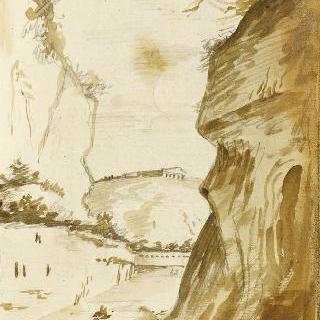 앨범 : 언덕 위의 고대 신전이 있는 풍경