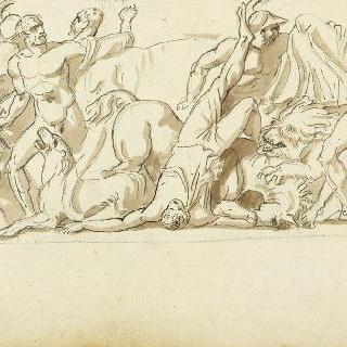 앨범 : 고대풍의 인물들이 있는 전투의 프리즈 작품