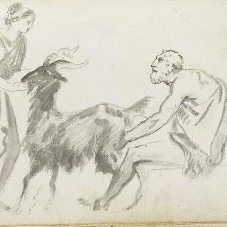 앨범 : 염소를 잡고 있는 남자와 여자