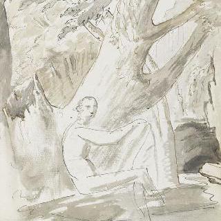 앨범 : 풍경 속에 앉아있는 나체의 여인