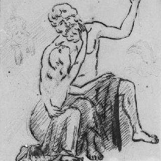주피터와 잉그르의 테티스를 묘사한 인물 습작