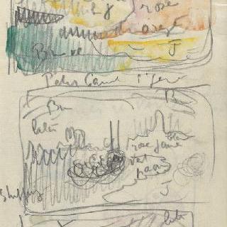 화첩 : 틀 속의 풍경 3점과 수사본 주석