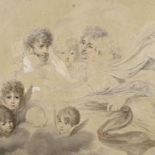장 밥티스트 이사비와 이사비 부인, 형제 루이와 네 아이들의 초상들