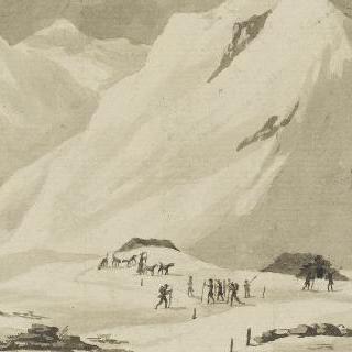 생 베르나르 산의 구제원을 오르는 길의 죽은 자들의 예배당 전경