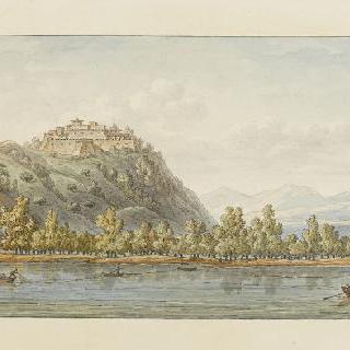 포 강변의 베뤼 성을 그리는 데농
