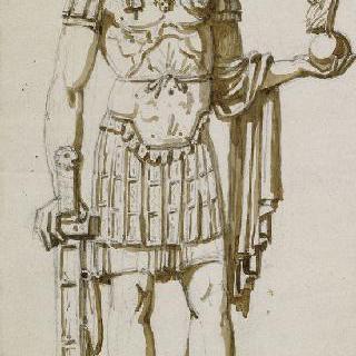 황제의 동상 계획안 : 로마 황제풍의 나폴레옹 1세