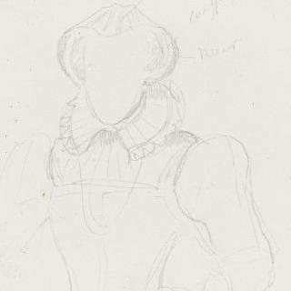 여성 의복 습작 (15세기)