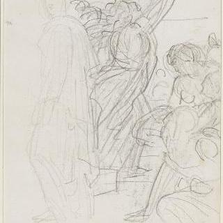형상들 그룹, 파트로클에게 복수를 하겠노라 맹세하는 아킬레스에 대한 습작