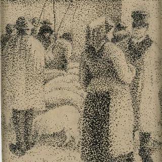 퐁투아즈의 생마르탱 장터의 새끼돼지 시장