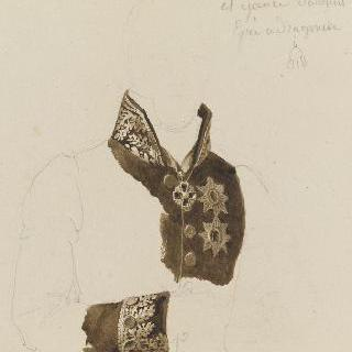 견본 앨범 : 라주모우스키 백작의 의복과 자수