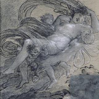 프시케의 납치 (1808년 살롱의 회화용 습작)