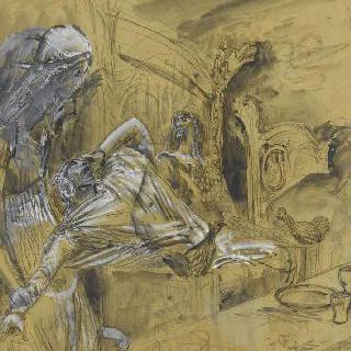 맥베스 삽화 계획안 : 맥베스에게 나타난 유령