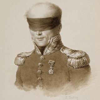 눈가리개를 한 드로오 앙투안 나네이 장군