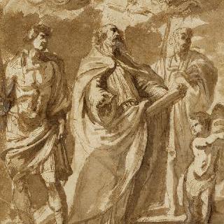 성 그레고리우스, 성 모뤼스와 성 파피아누스