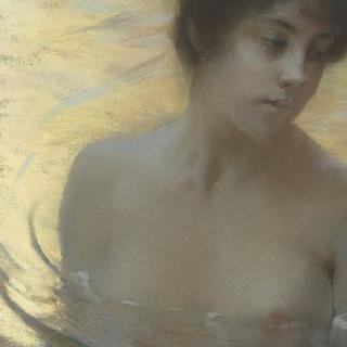 목욕하는 여인