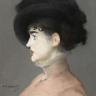 검은 모자를 쓴 여인 : 이르마 부륀네르 라 비에누아즈의 초상