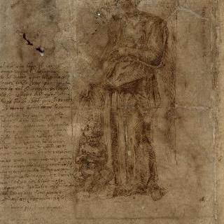 서 있는 여인과 그녀 발밑에 앉아있는 아이 : 좌측의 시의 세 절