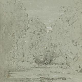 몽즈롱 근처의 세나르 숲 속의 길