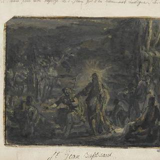 요한에게 세례를 묻기위해 다가오는 예수