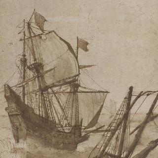 폭푸우 속의 배