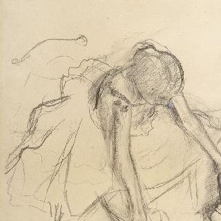 앉아서 발끝으로 서는 동작을 연습하고 있는 여자 무용수