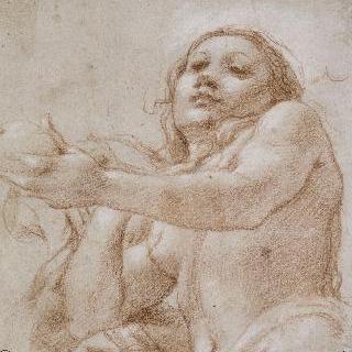 성녀 마들렌느의 상체 나신 또는 사과를 든 이브