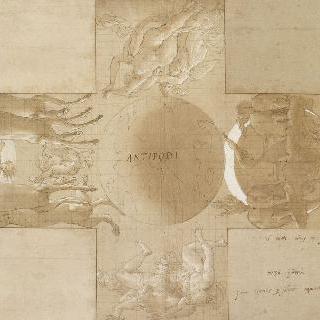 대척지 : 지구와 다이아나와 아폴론의 전차