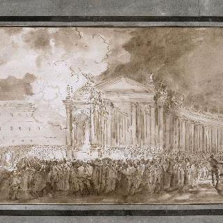 바티칸 생피에르드롬 광장의 조명 장식