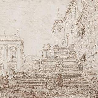 로마의 카피톨 광장 이미지