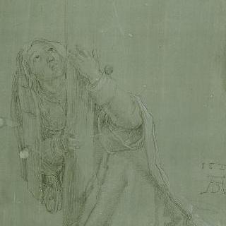 십자가 아래에서 무릎을 꿇고 있는 성녀 마들렌느