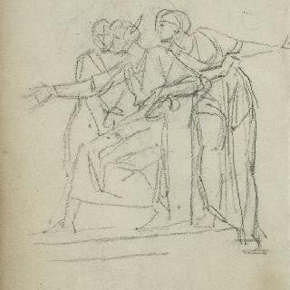 앨범 : 아펠의 중상 모략의 오른쪽 부분 크로키