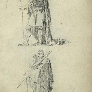 앨범 : 긴옷을 입은 두 남자의 왼쪽 프로필