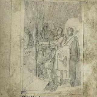 앨범 : 봉헌물을 가져가는 세 남자의 오른쪽 측면