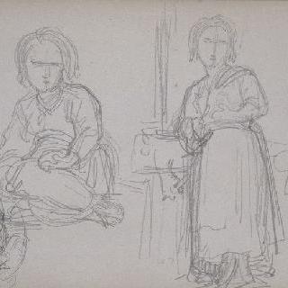 앨범 : 앉아있는 소녀와 서 있는 소녀