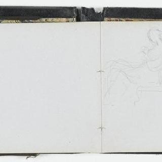 앨범 : 백지 : 다양한 습작, 인물 군상과 앉아있는 여인의 초상