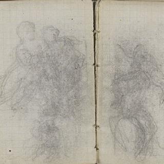 1865-1870년 경의 크로키 화첩 : 인물 습작