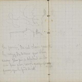 1865-1870년 경의 크로키 화첩 : 풍경 초벌화와 수사본 주석 : 빈 페이지