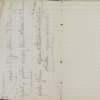 1865-1870년 경의 크로키 화첩 : 수사본 주석 : 백지의 페이지