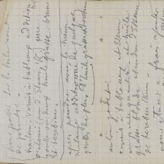 1865-1870년 경의 크로키 화첩 : 수사본 주석