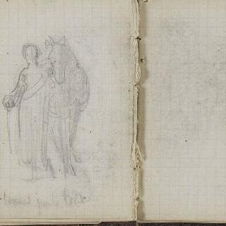 1865-1870년 경의 크로키 화첩 : 말과 여인의 습작 : 백지 페이지