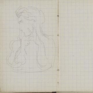 1865-1870년 경의 크로키 화첩 : 여인 흉상 습작 : 빈 페이지