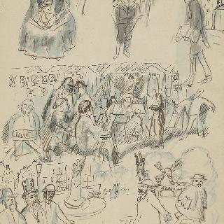 1910년경의 화가의 인생 화첩 : 화가의 유년기, 파리 줄리앙 아카데미