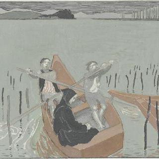 아시스의 성 프랑수아 생에 대한 일화 : 작은 배에 보이는 장면
