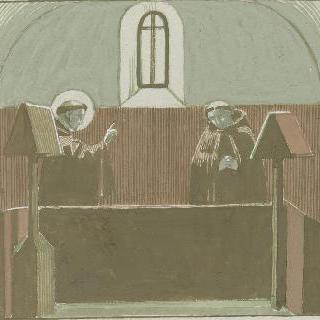 아시스의 성 프랑수아 생에 대한 일화 : 실내 장면