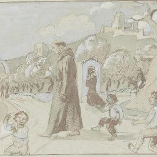아시스의 성 프랑수아 생에 대한 일화 : 풍경 속 장면