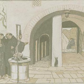 아시스의 성 프랑수아 생에 대한 일화 : 우물 근처 장면