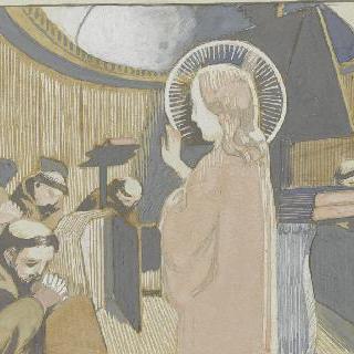 아시스의 성 프랑수아 생에 대한 일화 : 수도승들을 축복하는 그리스도