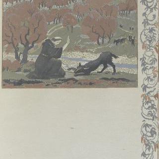 아시스의 성 프랑수아 생에 대한 일화 : 성 프랑수아가 구비오의 늑대를 개종하고 있다