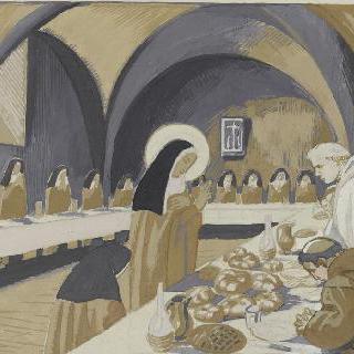아시스의 성 프랑수아 생에 대한 일화 : 빵에 축원하는 성녀